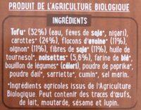 Vegetal burger noisettes - Ingrédients