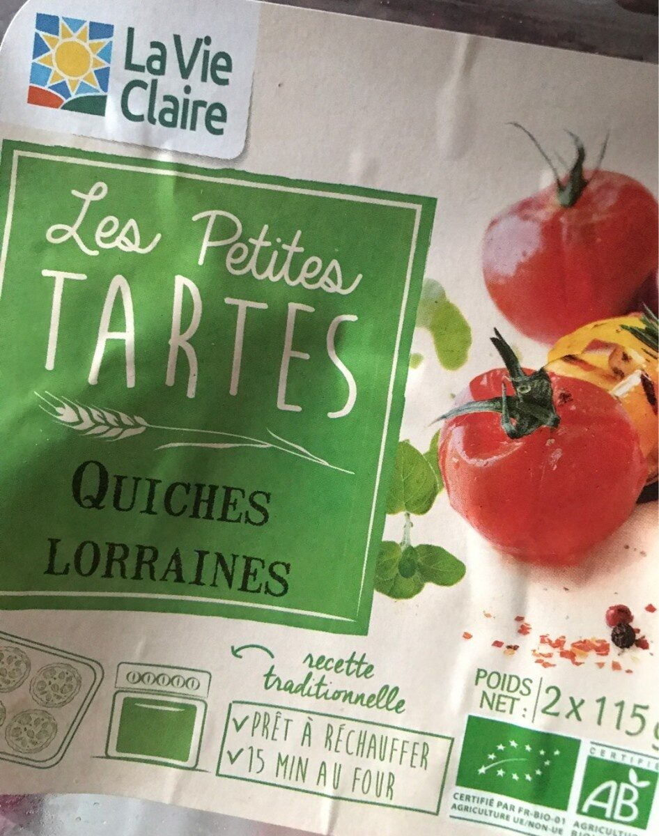 Les Petites Tartes Quiches Lorraines - Product - fr