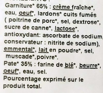 Les Petites Tartes Quiches Lorraines - Ingredients - fr