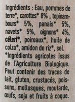 Soupe de légumes anciens - Ingrédients - fr