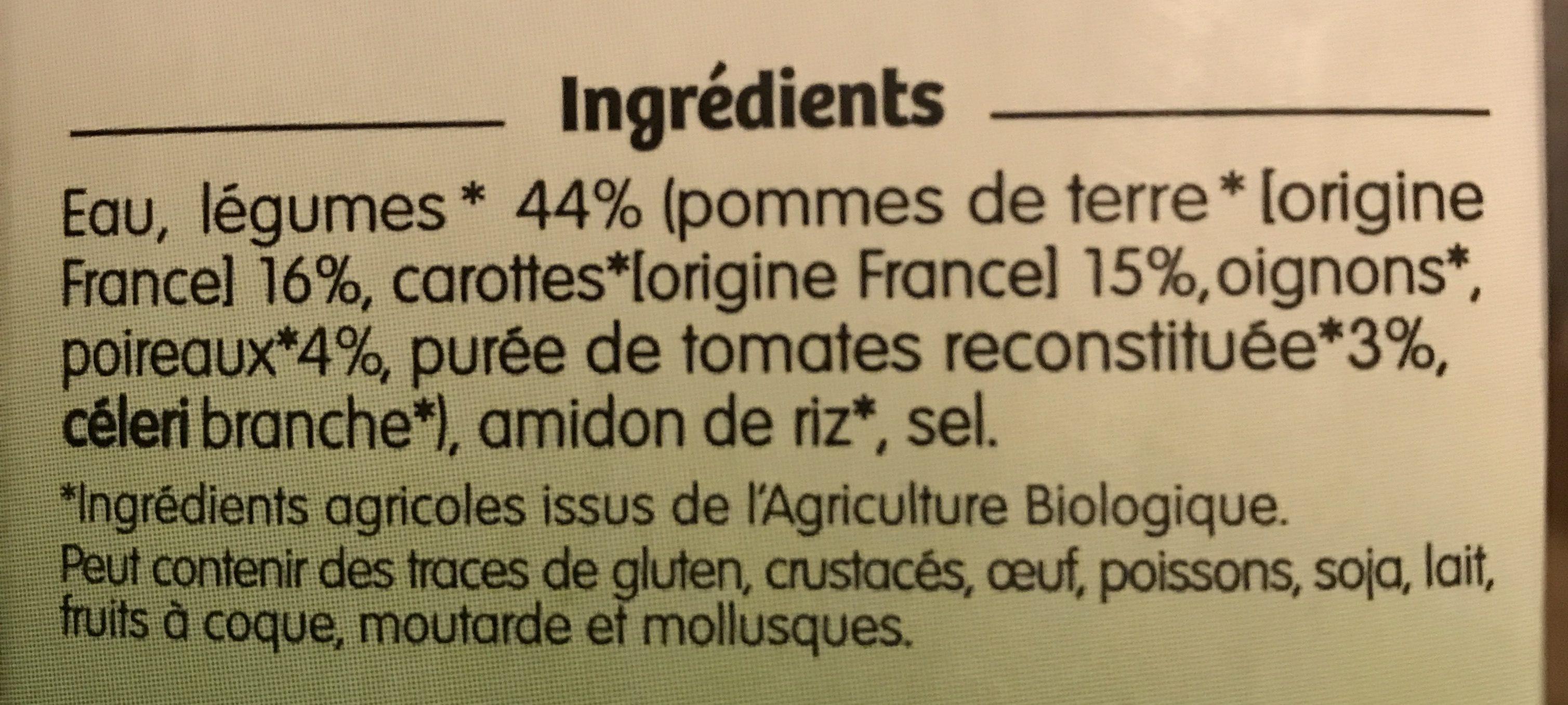 Soupe aux Légumes Variés - Ingredients - fr