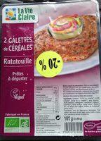 2 Galettes de Céréales Ratatouille - Produit
