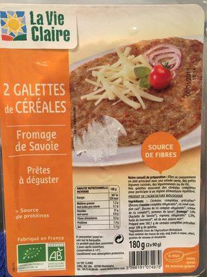 2 Galettes de Céréales Fromage de Savoie - Produit - fr