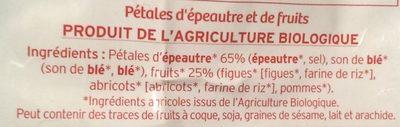 Pétales d'épautre et fruits - Ingredients