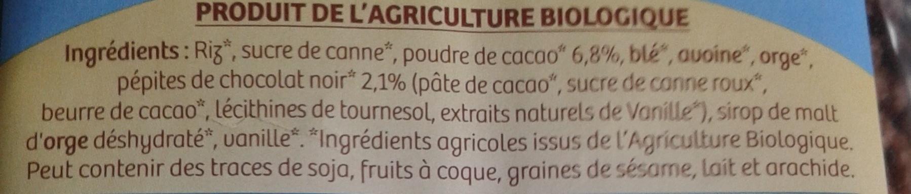 Céréales soufflées au chocolat - Ingrédients - fr