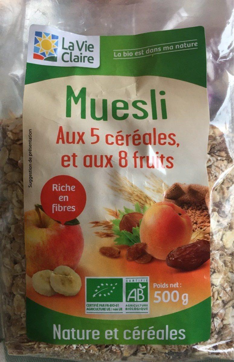 Muesli aux 5 céréales et aux 8 fruits - Product