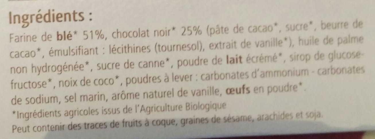 Le nappé chocolat noir - Ingrediënten