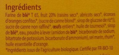 Mini cakes aux fruits - Ingrédients - fr