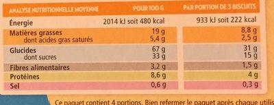 Mon Petit Goûter au Cacao - Voedingswaarden - fr