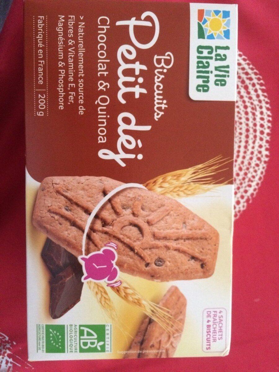 P'tit Déj Biscuits Chocolat et Quinoa - Prodotto - fr