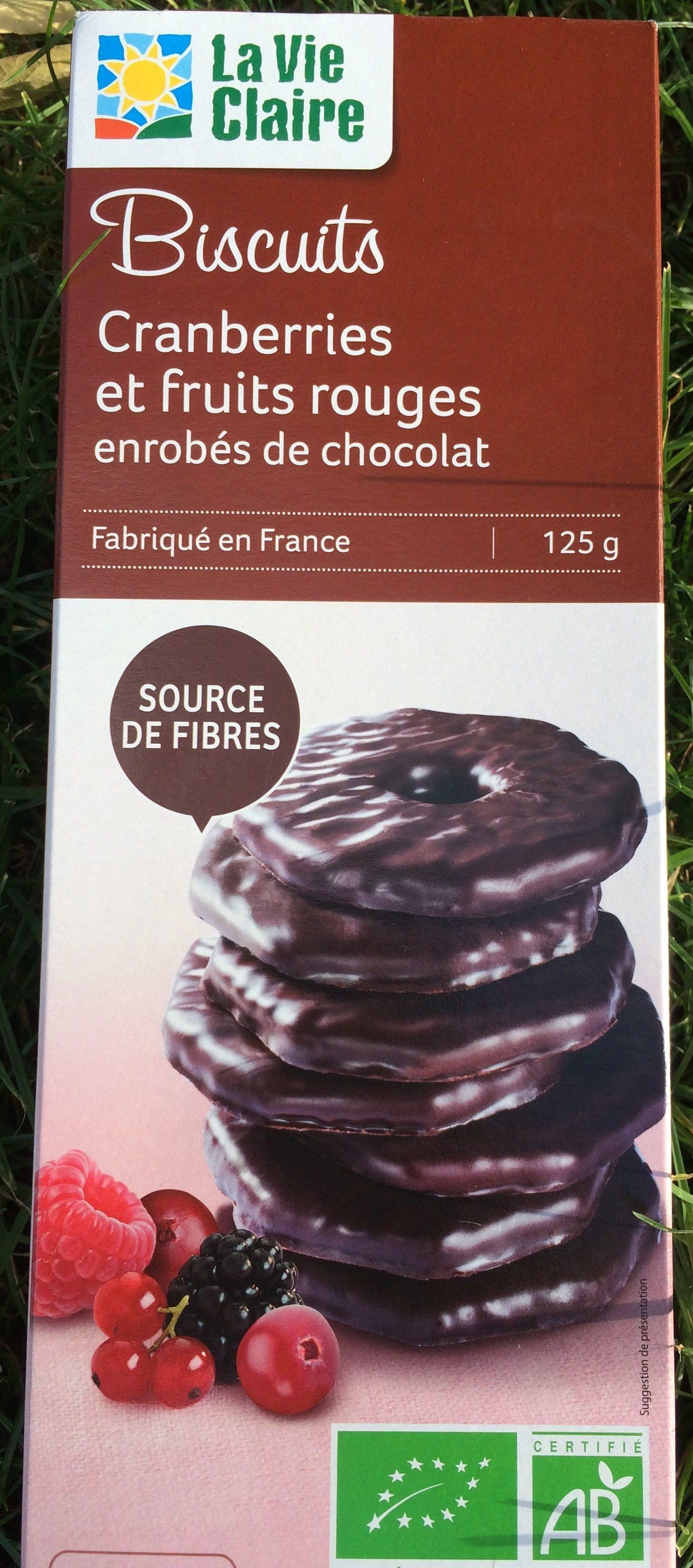 Biscuits Cranberries et Fruits Rouges Enrobés de Chocolat - Product - fr