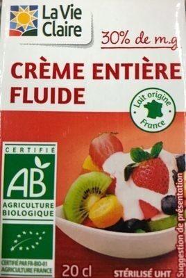 Crème entiere fluide - Produit - fr