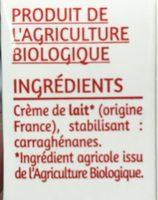 Crème entiere fluide - Ingrédients - fr