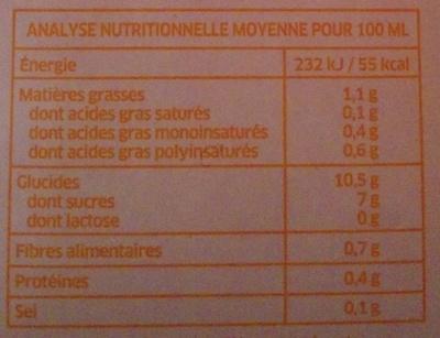 Boisson au Riz Nature - Informations nutritionnelles - fr