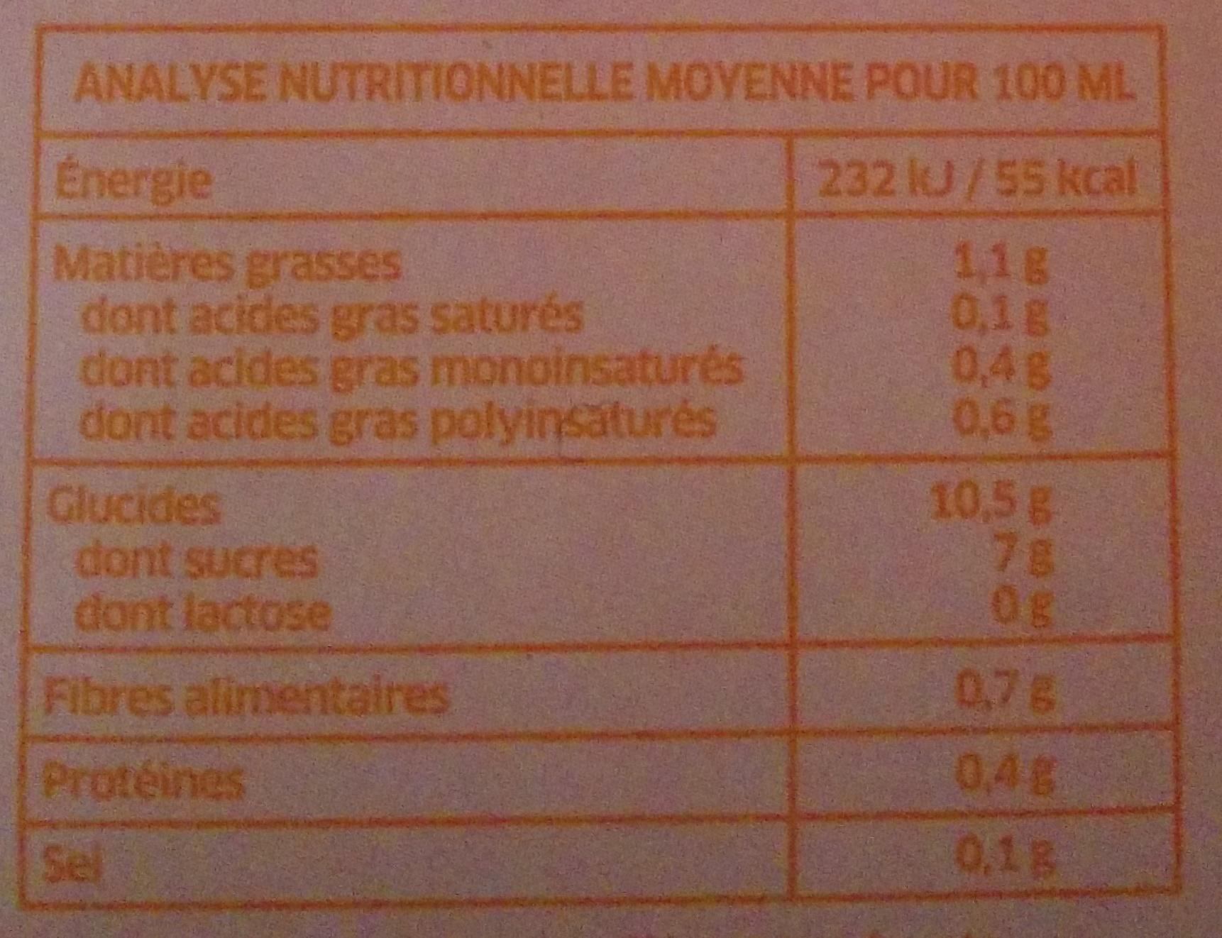 Boisson au Riz Nature - Informations nutritionnelles