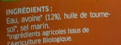 Boisson à l'Avoine Nature - Ingrediënten