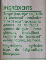 Soja cuisine - Ingredients - fr