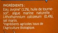 Boisson à l'avoine - Ingredients - fr