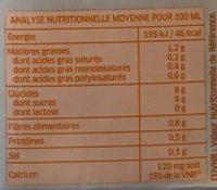 Boisson à l'avoine - Nutrition facts - fr