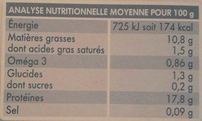 Tofu lactofermenté nature - Informations nutritionnelles