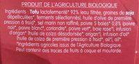Specialité végétale 5 baies - Ingredientes - fr