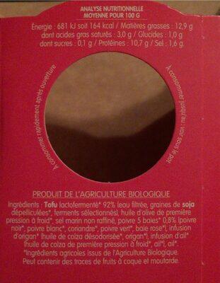 Specialité végétale 5 baies - Informação nutricional - fr