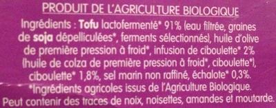 Spécialité végétale Échalote & Ciboulette - Ingredients - fr