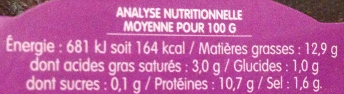 Spécialité végétale Échalote & Ciboulette - Nutrition facts - fr