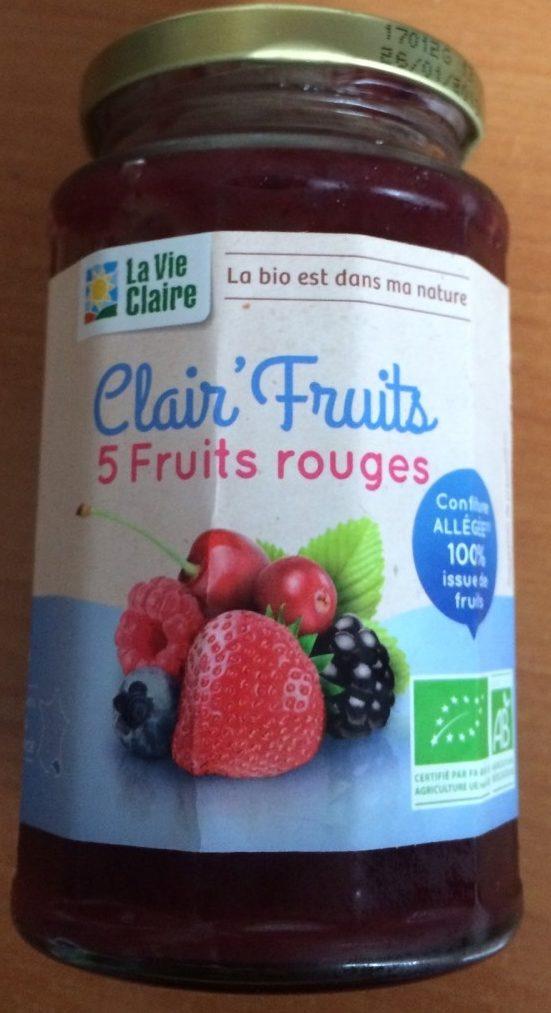 Clair' Fruits 5 fruits rouges - Produit - fr