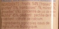 Clair' Fruits 5 fruits rouges - Ingrédients - fr