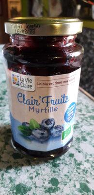 Clair'fruits - Confiture de myrtille bio - Produit - fr