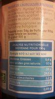 Clair'fruits - Confiture de myrtille bio - Informations nutritionnelles - fr