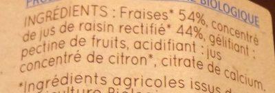 Confiture Fraises - Ingrédients - fr