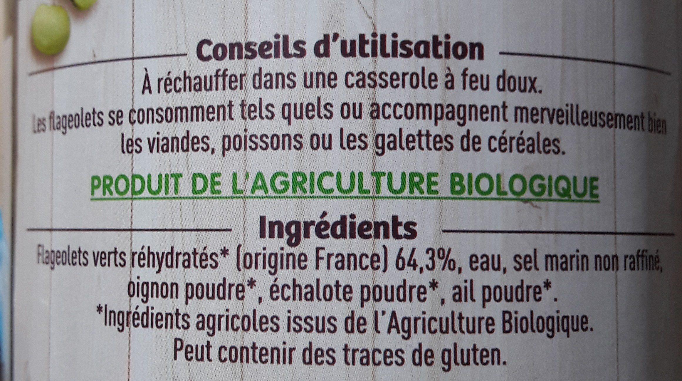 Flageolets 72cl 4€35 - Ingredients
