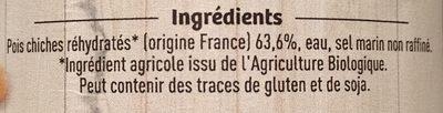 Pois chiches - Ingrédients