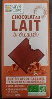 Chocolat au Lait à Croquer aux Éclats de Caramel et Fleur de Sel de Guérande - Product