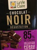 Chocolat noir dégustation 85% caco - Product