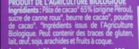 Chocolat noir dégustation 85% caco - Ingredients