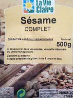 Sesame complet - Ingrediënten