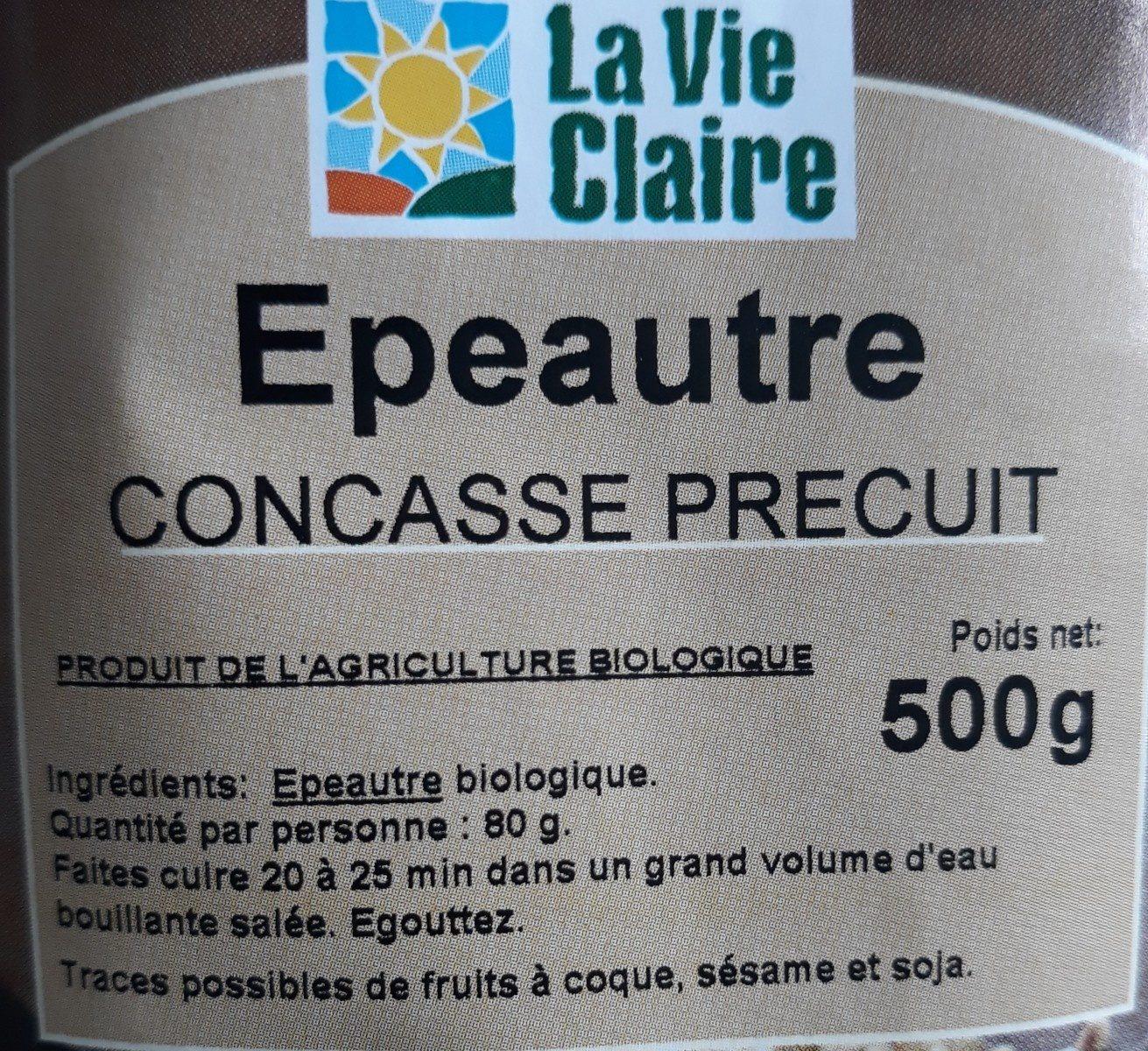 Épeautre concasse precuit - Ingrediënten - fr