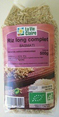 Riz long complet Basmati - Prodotto - fr