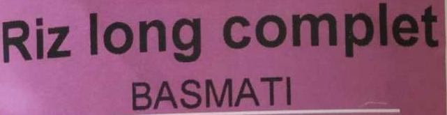 Riz long complet Basmati - Ingredienti - fr
