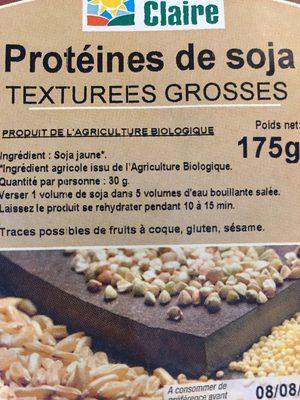 Proteines te soja texturees grosse - Ingrediënten - fr