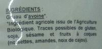 Flocons d'avoine précuits - petits - Ingrédients