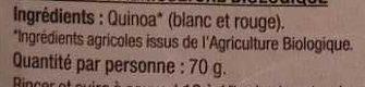 Duo de Quinoa - Ingrediënten - fr