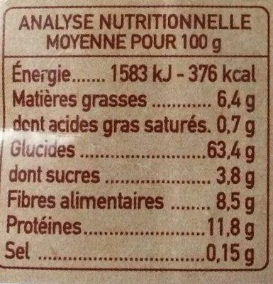 Duo de Quinoa - Voedingswaarden