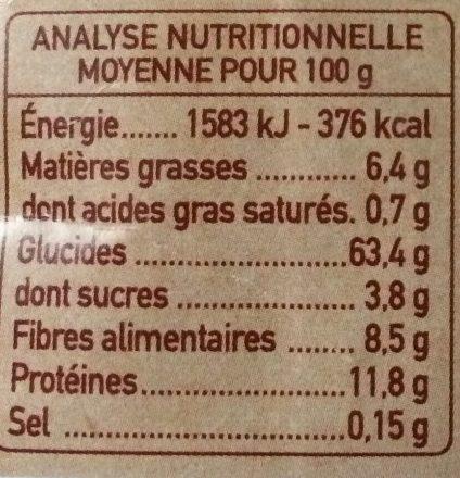 Duo de Quinoa - Voedingswaarden - fr