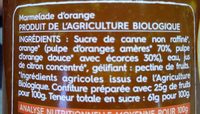 Marmelade d'orange - Ingredienti - fr