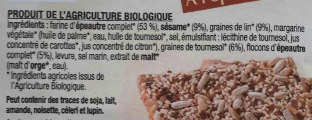 Croquants Classique à l'Épeautre - Ingredienti - fr
