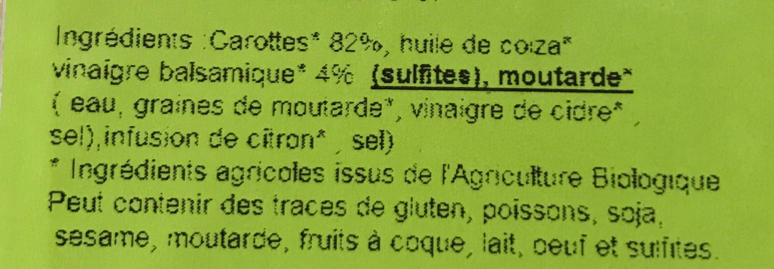 Les petites salades - Carottes râpées - Ingrédients - fr